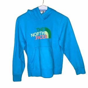 The north face blue hooded Sweatshirt
